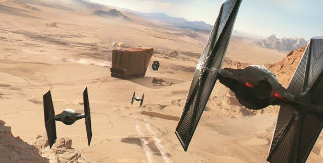 TIE FIGHTERS BARRELING DOWN ON A CRAWLER... °°
