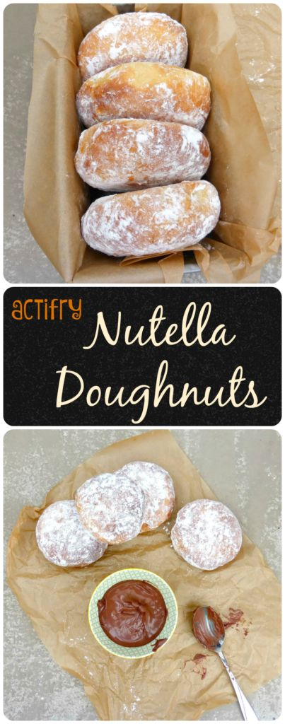 Actifry Doughnuts with a Nutella Filling. Believe it or not, you can make great doughnuts in an Actifry or Airfryer! Like these delicious Nutella beauties! #actifry #doughnuts #dessert #bread #Nutella #foodblogger