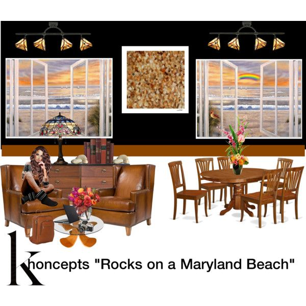"Khoncepts ""Rocks on a Maryland Beach"" wall art by khoncepts on Polyvore featuring art, wallart and photographicart"