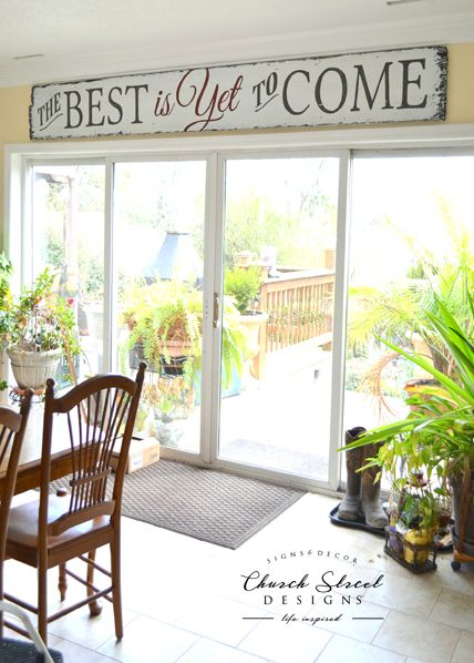 The Best Is Yet To Come - FREE SHIPPING - This Large, Hand Painted, Wooden Sign is an amazing statement piece for your home or office. From farmhouse style to industrial style, check out more signs at www.churchstreetdesigns.com - Wall Decor - Inspirational Sign