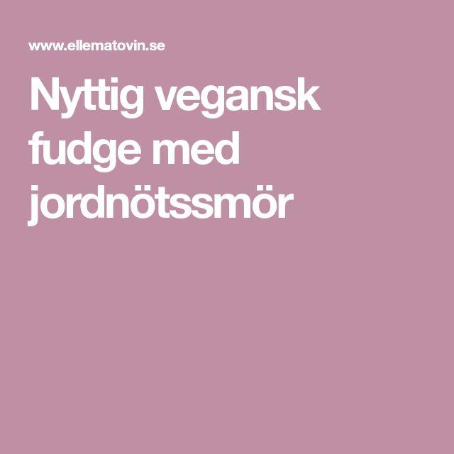 Nyttig vegansk fudge med jordnötssmör