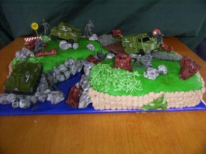 Birthday Cake - army