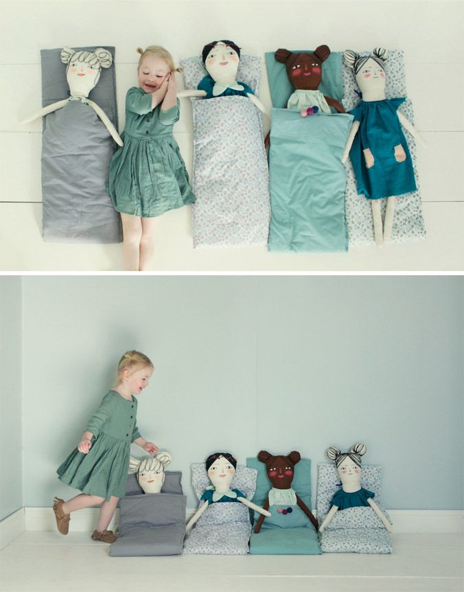 Love these life-sized dolls. Maybe M would be interested in dolls if they were her size?