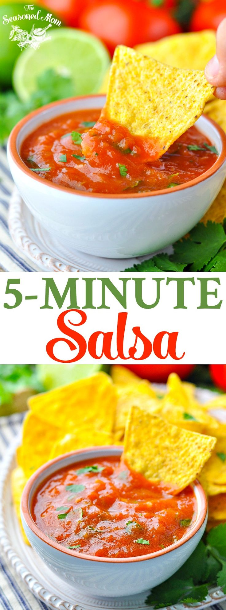 Fresh 5-Minute Homemade Salsa! Salsa Recipe with Fresh Tomatoes | Dip Recipes | Dips and Appetizers | Dips for Parties | Mexican Food Recipes | Appetizers Easy | Appetizers for Party #ad #MissionChips #MissionOrganics @missionkitchen