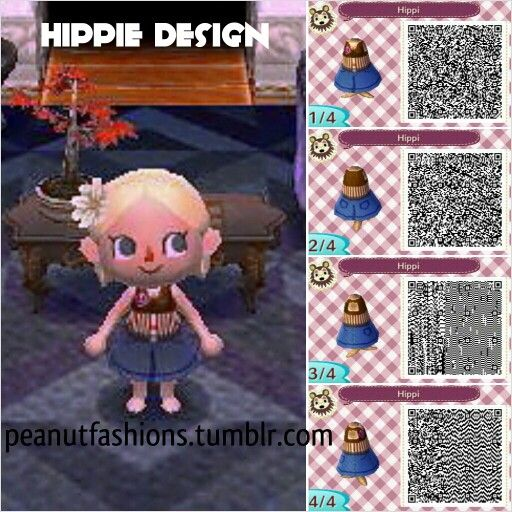 Hippie Design By Peanut Fashions For Animal Crossing New
