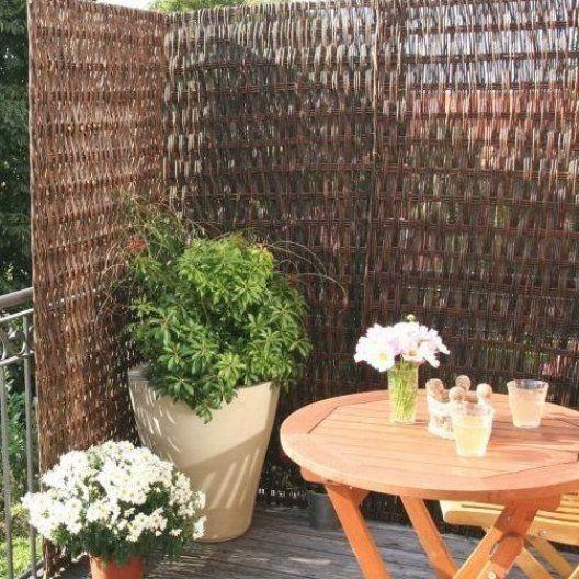 Balkon Sichtschutz Weide Stark strukturiertes