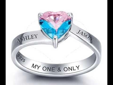 Heart Gemstone Engraved Ring - Belis Delights