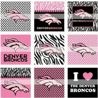 And, here's the pink and black Broncos graphics, for the lady fans.