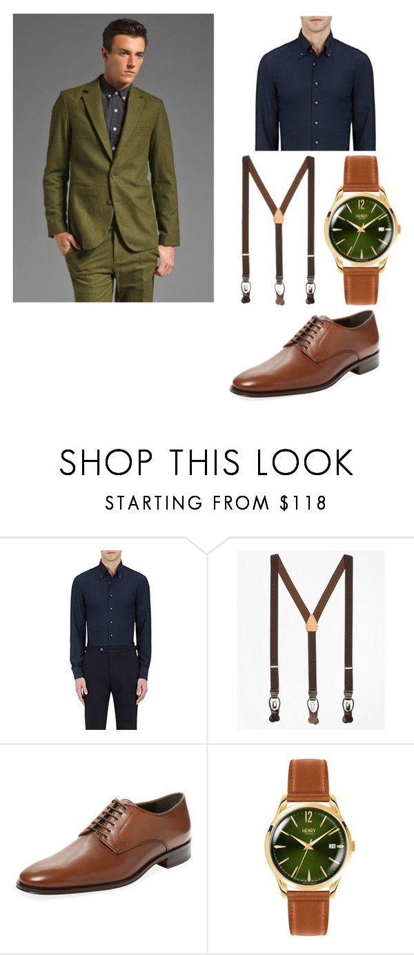 """Australian designer"" by sparklepieceblog on Polyvore featuring Vanishing Elephant, P. Johnson, Brooks Brothers, Bruno Magli, Henry London, men's fashion and menswear"