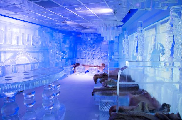 Minus 5 Ice Bar at The Monte Carlo in Las Vegas, NV.