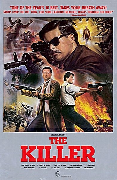 "Movie: ""The Killer"" starring Chow Yun-Fat & director John Woo.. most guns, bullets, bodies in a movie.. influential on movies of Tarantino & Rodriguez.."