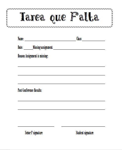 Do homework in spanish