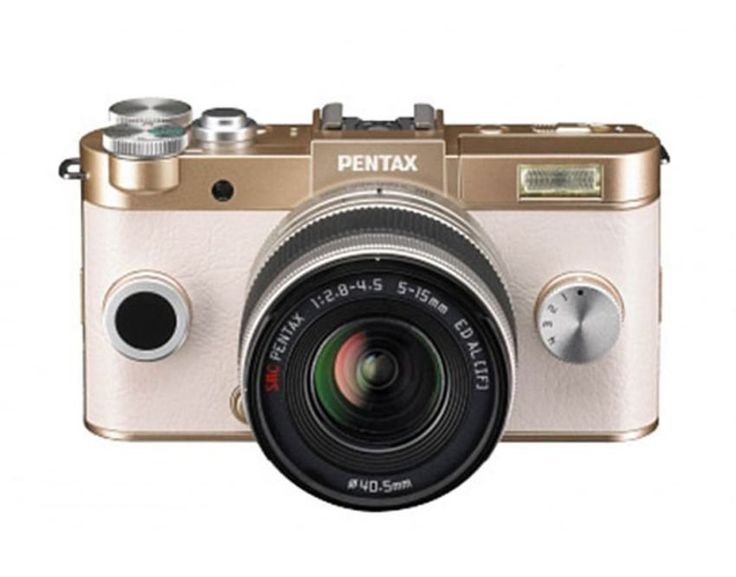 Pentax Q S1 Zoom Lenskit - Champagne Gold. Portable, powerful and fashionable.  impressive color combinations. 12.4 megapixel back-illuminated CMOS deliver high-quality images, offers high-sensitivity shooting, reliable shake-reduction system, full HD video recording 30 fps, pop-Up flash. http://www.zocko.com/z/JJ1HL