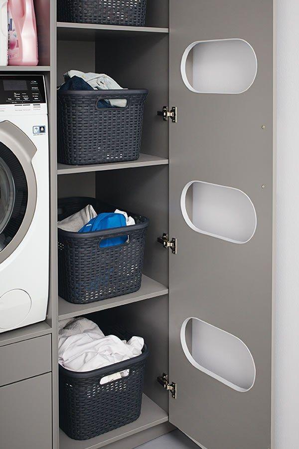 E Bijkeuken Van Schuller C Is Het Antwoord Op Een Opgeruimde Ruimte Deze Bijkeuken Is Voorzien Van Slimme Oplossingen Zodat Uw Huishoudelijke Waschkuchendesign