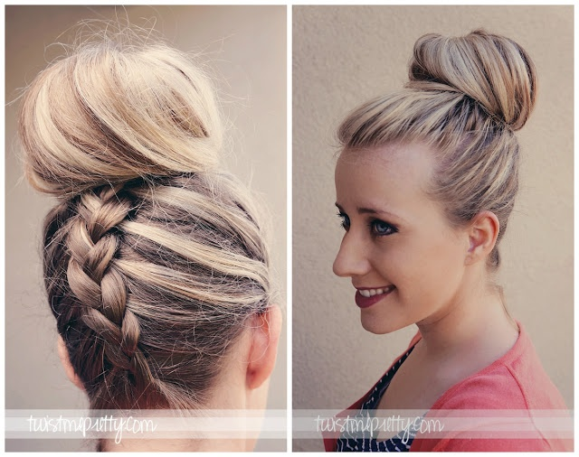 French Braided Top Knot TUTORIAL