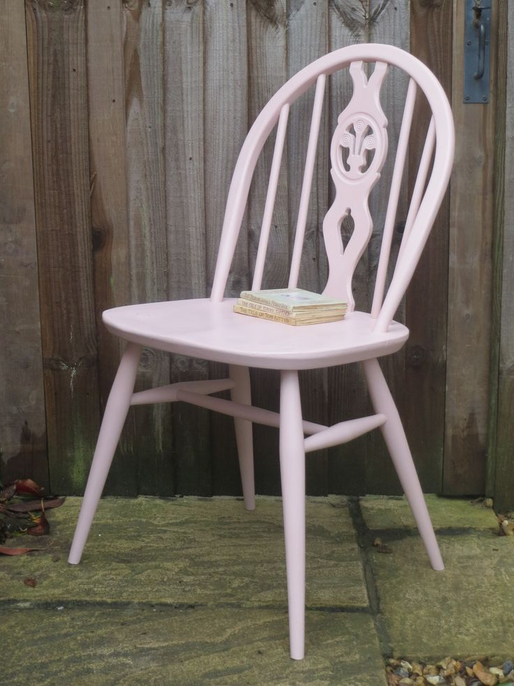 Original Ercol Fleur de Lys chair in Antoinette by Annie Sloan, for a little girls room, or big girly girl.
