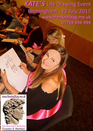 Kate (The Bride to be) was extremely happy with her surprise Life Drawing Event