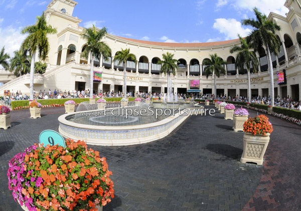 Beautiful Gulfstream Park in Florida is the next stop on my dream tour of race tracks! Photo by Eclipse Sportswire