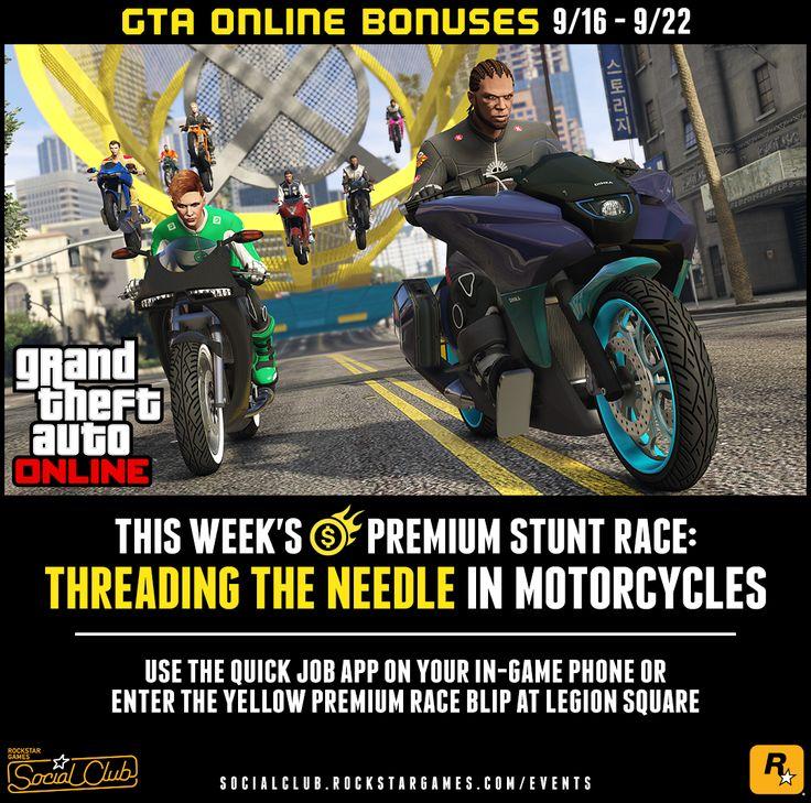 Rockstar Games Social Club - This Week's GTA Online Bonuses: Half Off Everything at Warstock Double GTA$ in Drop Zone and Parachuting Jobs plus More (Sept. 16th #GrandTheftAutoV #GTAV #GTA5 #GrandTheftAuto #GTA #GTAOnline #GrandTheftAuto5 #PS4 #games