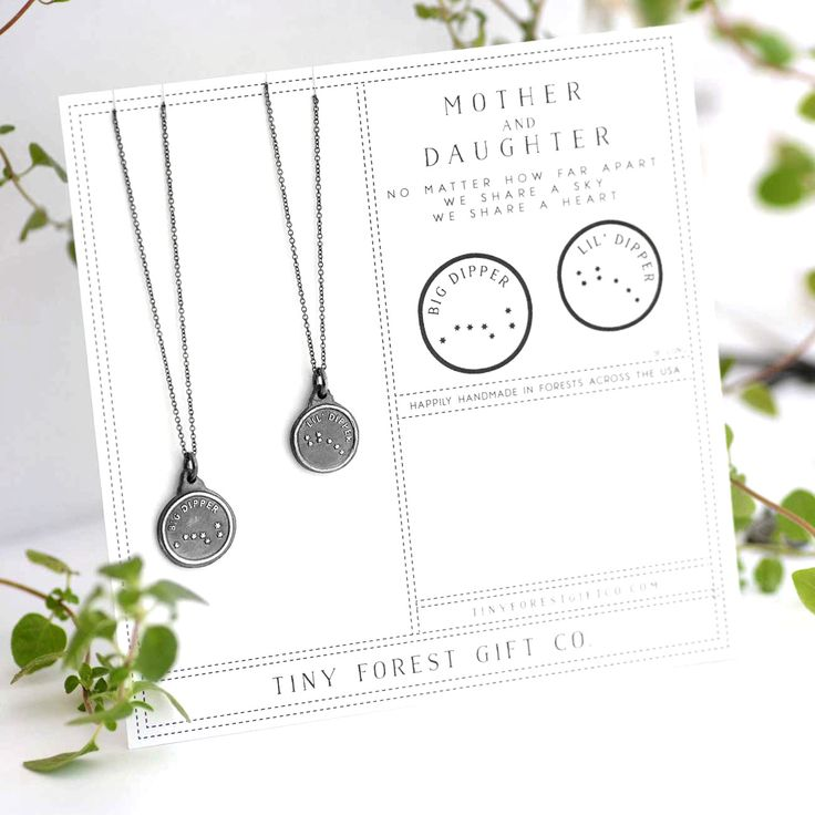 Mother + Daughter Big Dipper & Little Dipper Necklace