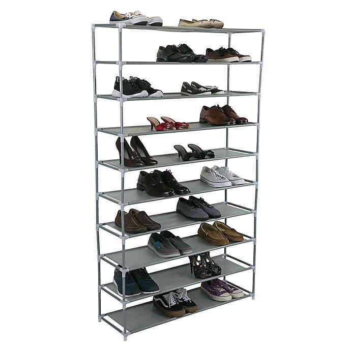 Simplify 10-Shelf Shoe Rack   Bed Bath
