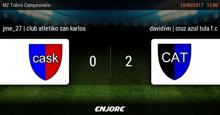 jme_27 | club atletiko san karlos 0 - 2 davidivn | cruz azul tula f.c https://www.enjore.com/es/match/5300470/jme_27-club-atletiko-san-karlos-davidivn-cruz-azul-tula-f-c/
