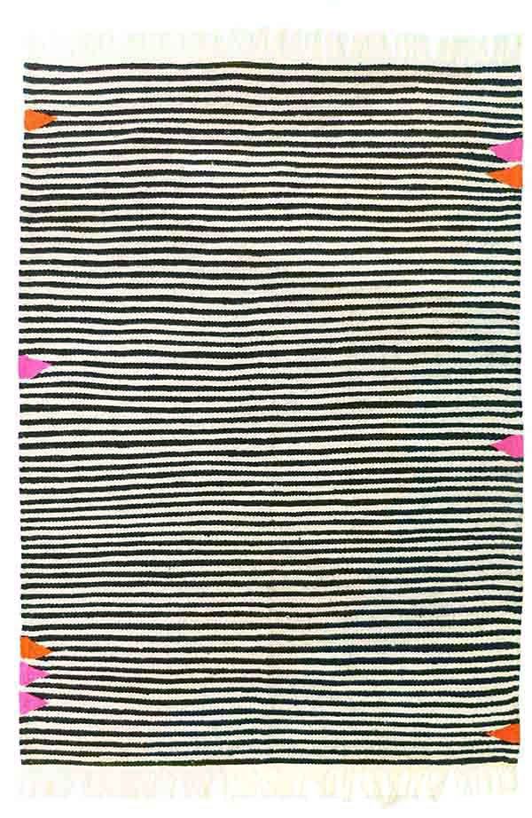 lanalou rugs black and white rug style striped