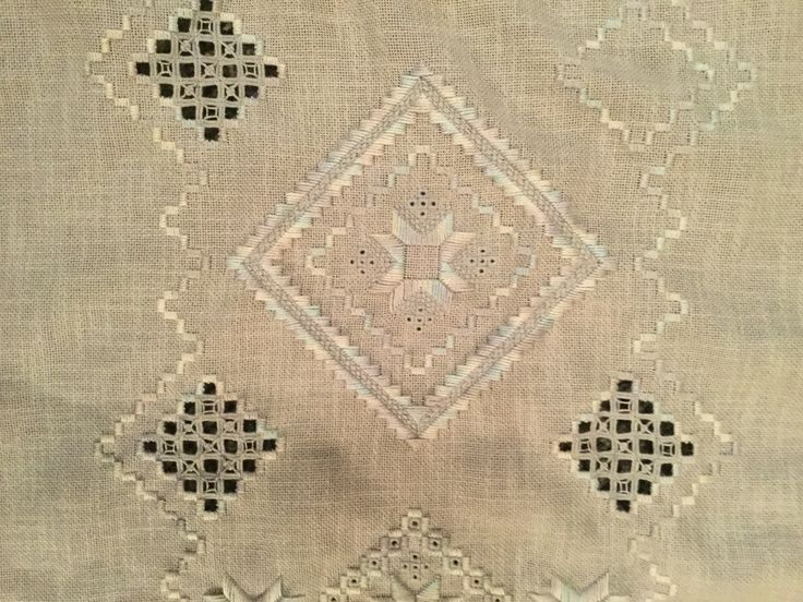 Runner - Central motif - the centre will be cut and needle woven soon