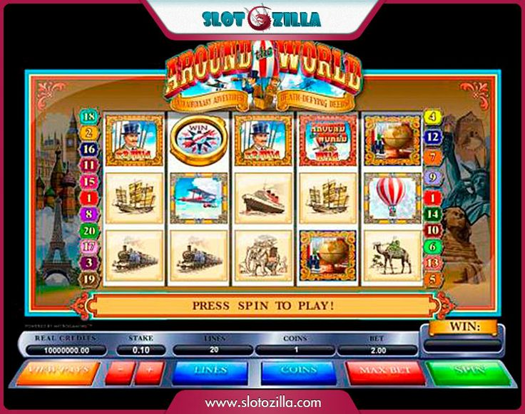 Around the World free #slot_machine #game presented by www.Slotozilla.com - World's biggest source of #free_slots where you can play slots for fun, free of charge, instantly online (no download or registration required) . So, spin some reels at Slotozilla! Around the World slots direct link: http://www.slotozilla.com/free-slots/world-2