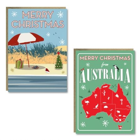 Christmas Australia cards (set of 8) CHRISTMAS IN #HTFSTYLE