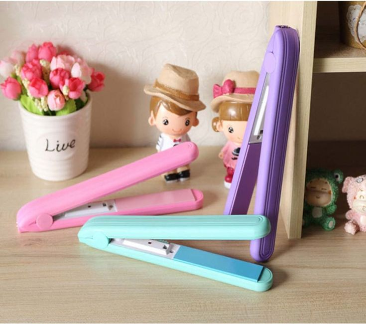Surker Mini Fruit Color Electric Plywood Dry & Wet Cute Professional Flat Iron Hair Straightener for Students Girl MS-5188