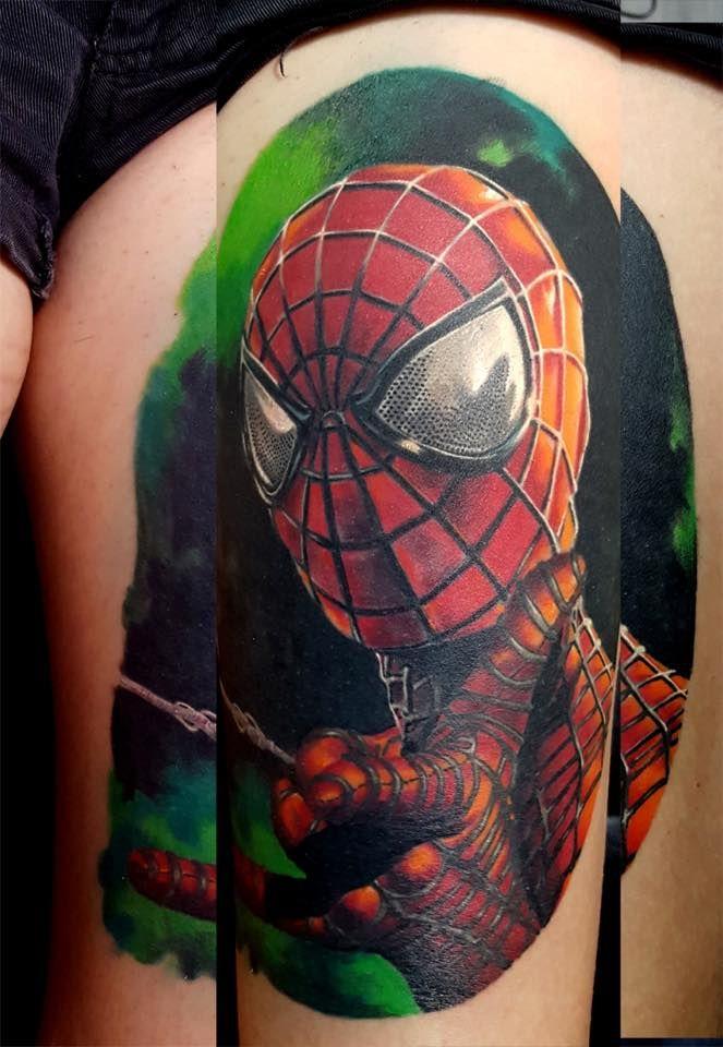 spiderman realistic color portrait by SKERYONE