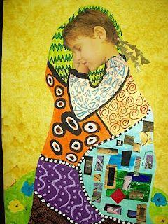 Klimt Inspirations   Estupenda idea,1º introducción de la obra de Klimt trabajos de texturas y colores y finalmente retoque en el gimp.
