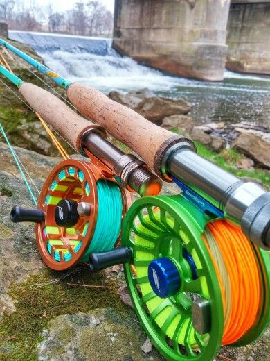 Two of my favorites from my personal collection, an Allen Trout 2 on a Blue Halo…