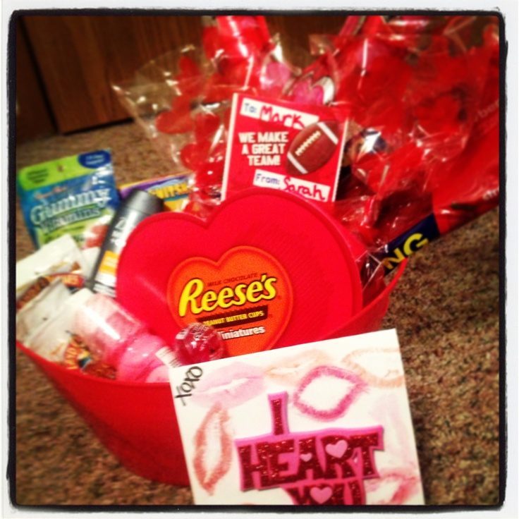 diy man basket great valentines day gift fill with his favorite treats and - Great Valentines Day Ideas For Him