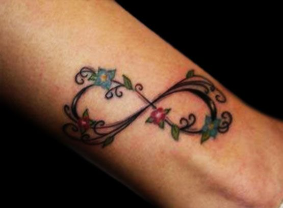 Infinity Tattoo With Flowers