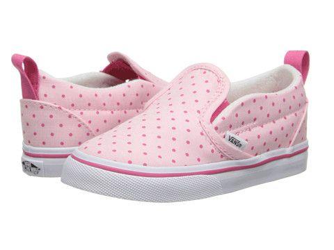 Vans Kids Slip-On V (Toddler) (Chambray Dots) Hot Pink - Zappos.com Free Shipping BOTH Ways