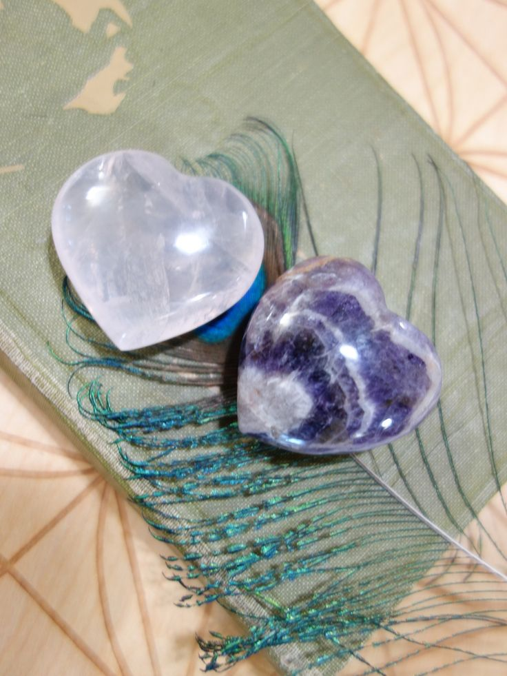 Crystal Heart Set~Amethyst Dream Quartz & Optical Pink Rose Quartz Love Heart Set~  NEW! Take a Closer Look Here: https://www.earthfamilycrystals.com/crystal-heart-set-amethyst-dream-quartz-optical-pink-rose-quartz-love-heart-set/