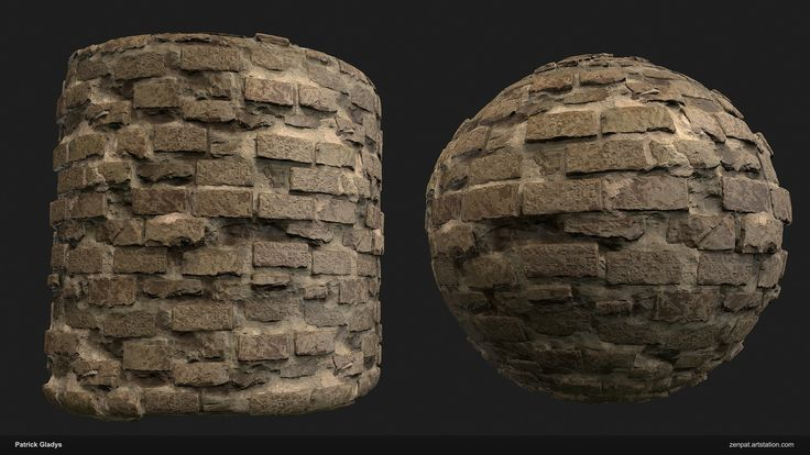 Material: Sandstone Brickwall, Patrick Gladys on ArtStation at https://www.artstation.com/artwork/JELqz