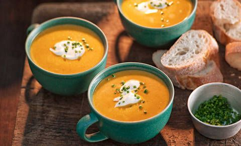 You'll find lots of different types of pumpkin. For the creamiest and tastiest soup, try nutty-flavoured Jap, golden Queensland blue or sweet butternut varieties.