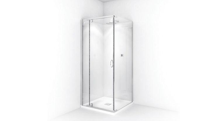 Decina Cascade White Square Shower System