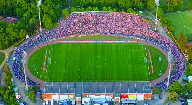 """SV Darmstadt's stadium will be known as the """"Jonathan-Heimes-Stadion-am-Böllenfalltor"""" after one of their biggest fans, Johnny Heimes, succumbed to cancer at the age of 26 after being diagnosed at 14. An agreement was made with the company Merck to waive their stadium naming rights for the rest of the 2016-17 Bundesliga season."""