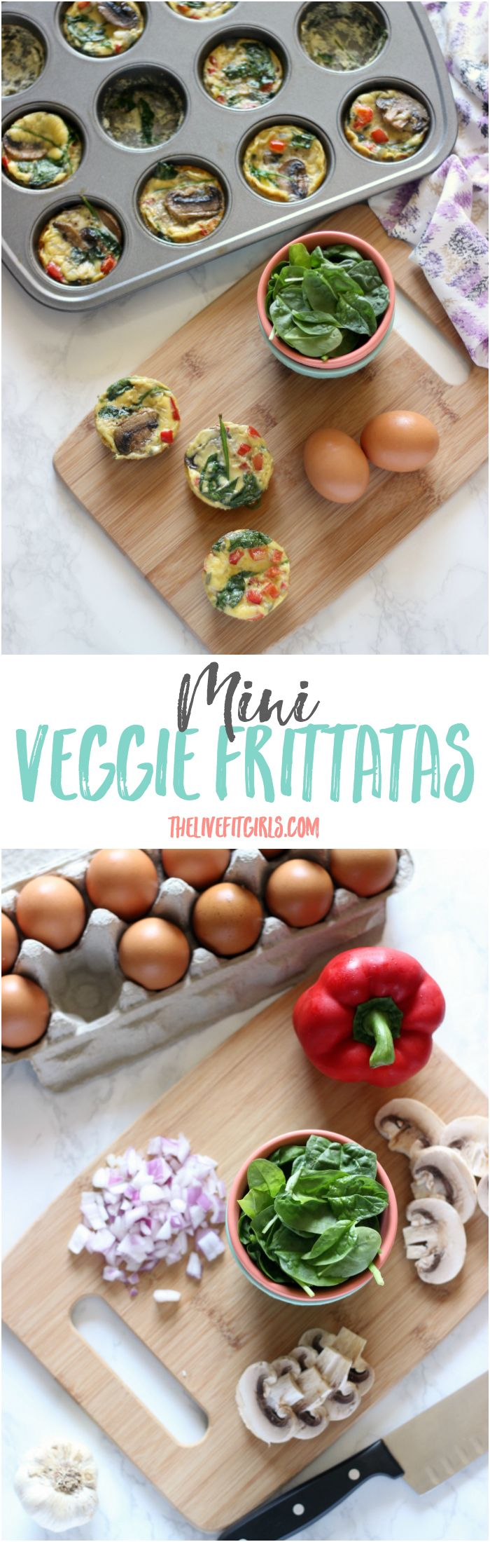 Mini Veggie Frittatas -- so easy and perfect for a GREAT morning! @almondbreeze #ad #ServeUpYourBest