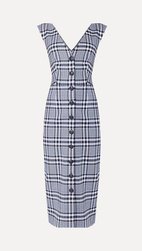 The Trend: Check Mates—Veronica Beard dress, $710, veronicabeard.com