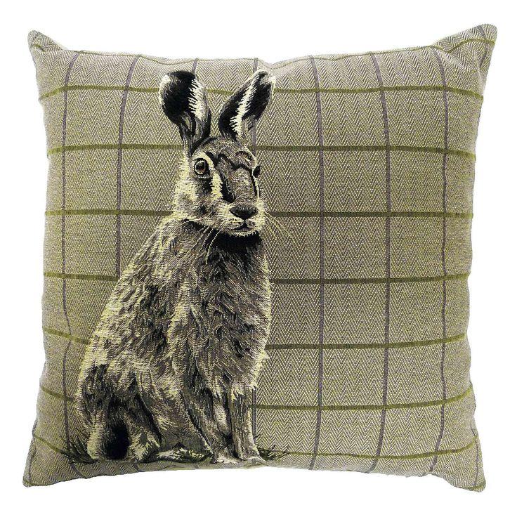 Hare Tapestry Cushion | Dunelm