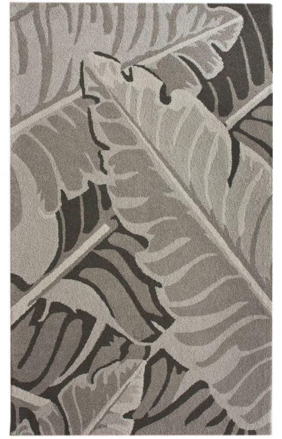 Leaves Pattern Gray Nature Organic Illustration Rugs
