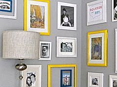 How to hang frames without using nails