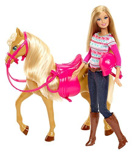 Barbie - BJF78 - Poupée - Barbie Et Son Cheval Barbie http://www.amazon.fr/dp/B00ERK4398/ref=cm_sw_r_pi_dp_QLGEub0V7169P