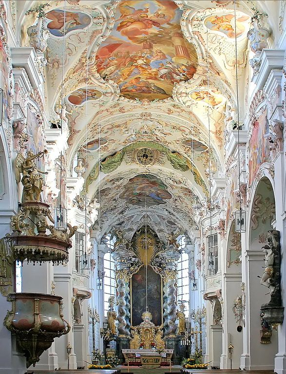 visitheworld: Baroque architecture inside Reichenbach Abbey in Bavaria, Germany…