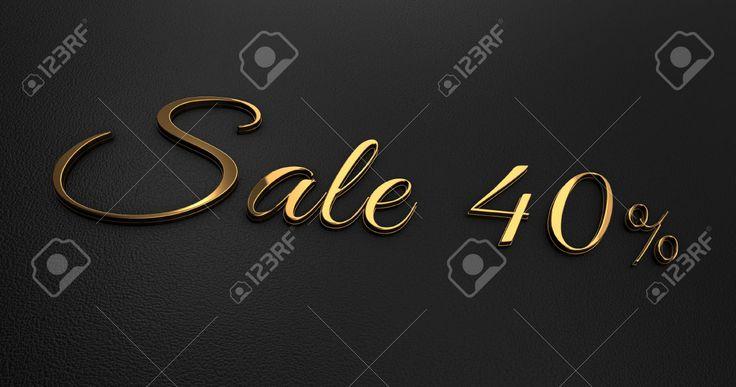 Роскошный дизайн 3d золото Продажа на Черной коже - Promotion Продажа Фотография, картинки, изображения и сток-фотография без роялти. Image 56442040.